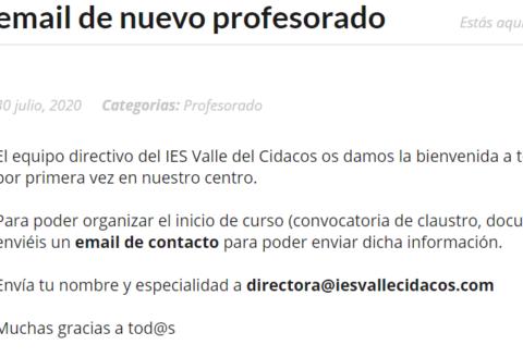 email - Nuevo profesorado